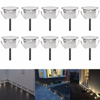 10PCS Decorative Garden Pavers Recessed Led Floor Lights DC12V IP67 Waterproof Stair Step Underground Lamp Outdoor