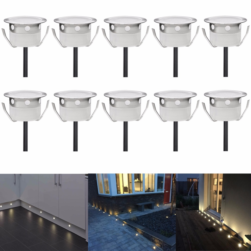 10pcs Decorative Garden Pavers Recessed Led Floor Lights