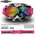 NENKI Motorcycle Racing Eyewear Motocross Off-Road Dirt Bike DH MX ATV Googles Ski Snowboard Glasses for Men Women Colorful Lens