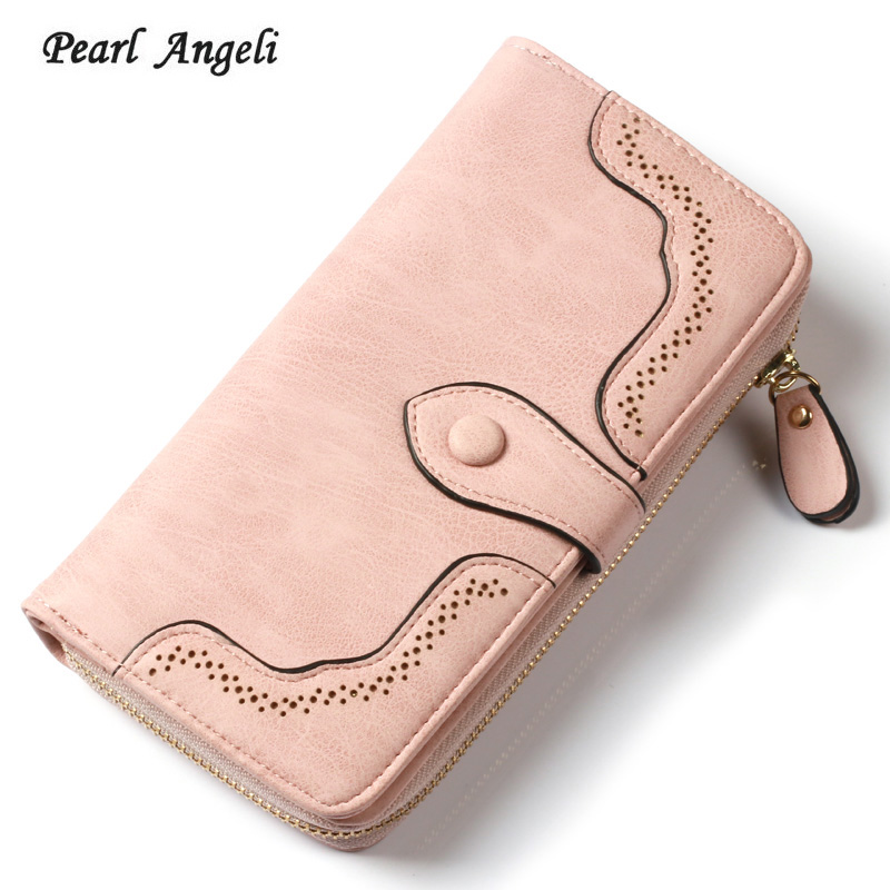 New Fashion Long Female Purse Leather Women Wallet Card Holder Money Coin Pocket Purses Zipper Hasp Clutch Wallets For Women brand wallet fashion women wallet double zipper female clutch purse froasted pu leather money case coin pocket card holder