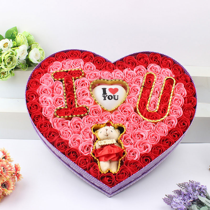 2016 light teddy bear artificial foam soap rose flowers i love u 2016 light teddy bear artificial foam soap rose flowers i love u wedding decoration mothers day birthday love gift home decor in artificial dried flowers negle Image collections