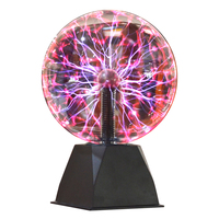 Magic Night Light Toy 8 Inch Glass Plasma Ball Lamp Gifted Touching Decoration Voice Control For Party Bar House Festival
