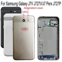 battery samsung galaxy Shyueda Orig New Back door For Samsung Galaxy J727 J7V J727V J7 Perx J727P Rear Back Door Housing Battery Cover + Frame (1)