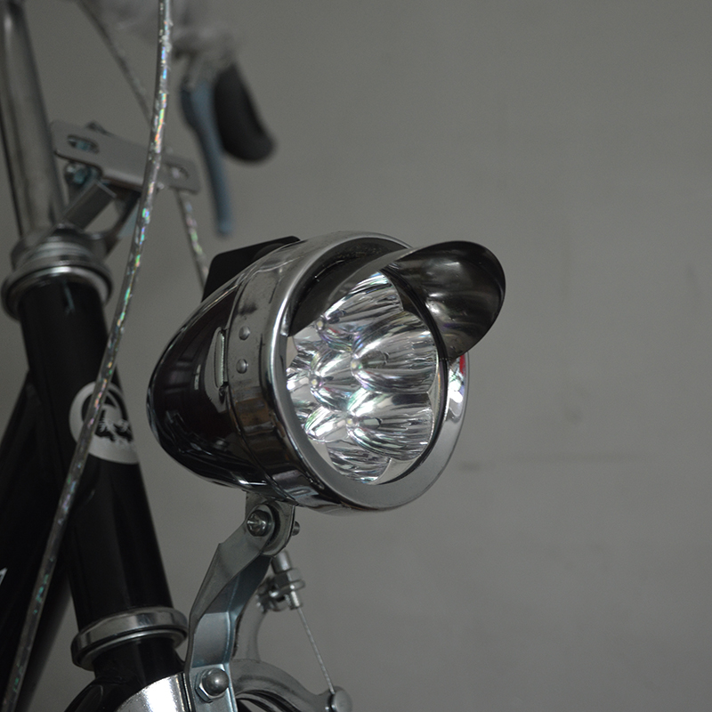 6 LED Metal Shell Super Light Old Style Classic Vintage Vntga Retro Bike Bicycle Front Headlight Free Shipping