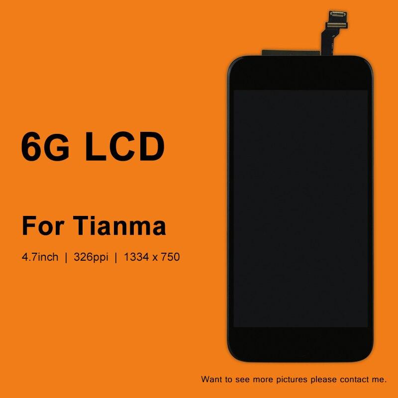 imágenes para DHL 10 unids Para Tianma Calidad Teléfono 6 Pantalla LCD, para el Teléfono 6 Pantalla LCD Asamblea Blanco y Negro