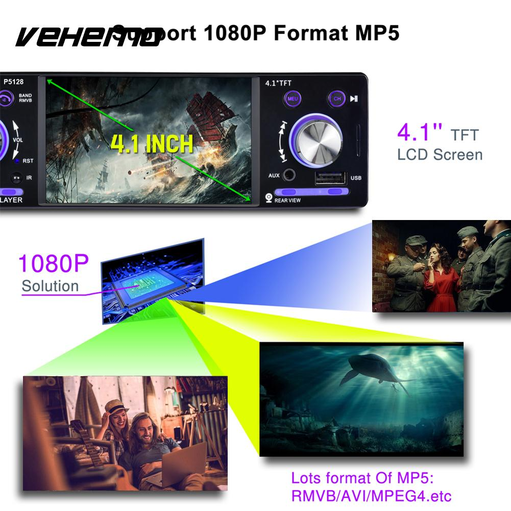 Vehemo 1080P Car Video Player Rear View Camera MP5 Player Smart Music Player Car MP5 Car Kit Premium Stereoscopic Sound Effect