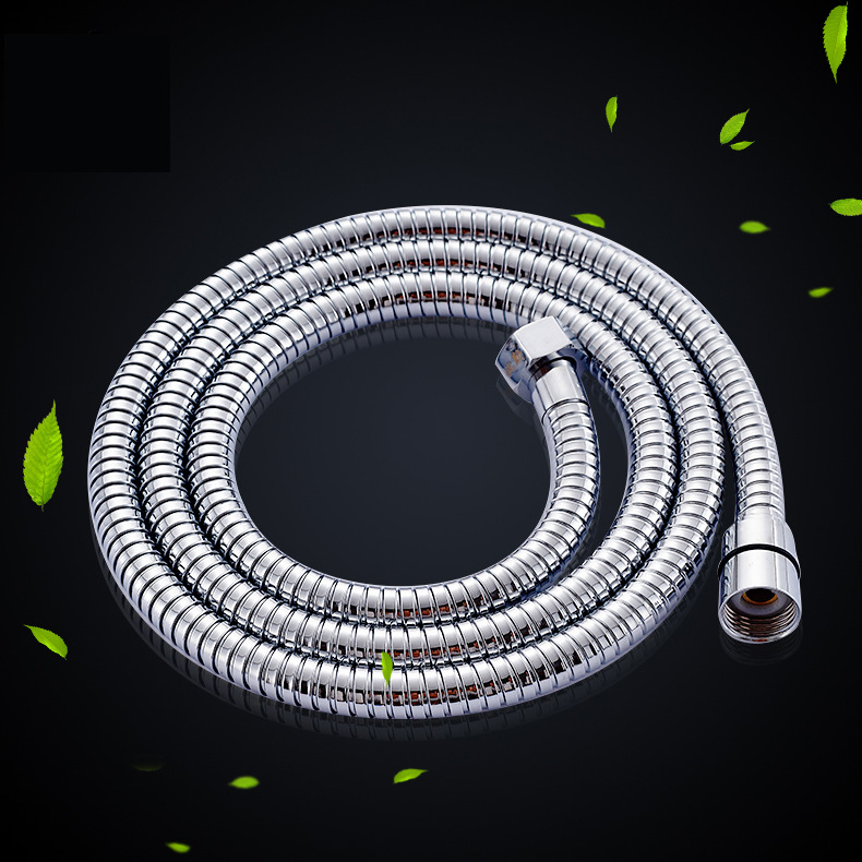 304 Stainless Steel Enhanced Plumbing Hoses Tube Bathroom Shower Set Accessories Hand Hold Shower Pipe 1.5m