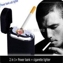 1ชิ้นใหม่บุหรี่แบบพกพาusbเบากับธนาคารอำนาจเดินทางฟังก์ชั่นไฟฉายledไฟฟ้าไฟแช็ก