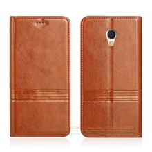 Vintage Genuine Leather Flip Stand Case For MEIZU MX6 MX 6 5.5″ Luxury Cowhide Leather Cover & Micro Invisible Magnet
