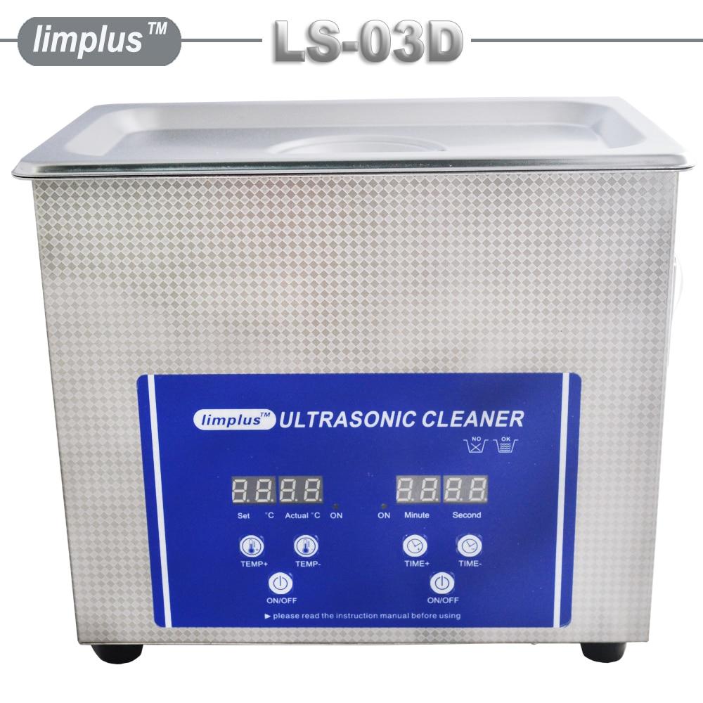 GRATIS VERZENDING Limplus Rvs Digitale Ultrasone Reiniger Bad 3L Voor Sieraden Horloge Brillen Scheermes