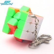 RCtown 3cm Mini Small Magic Cube Key Chain Smart Cube Toy Creative Key Ring Decoration zk25