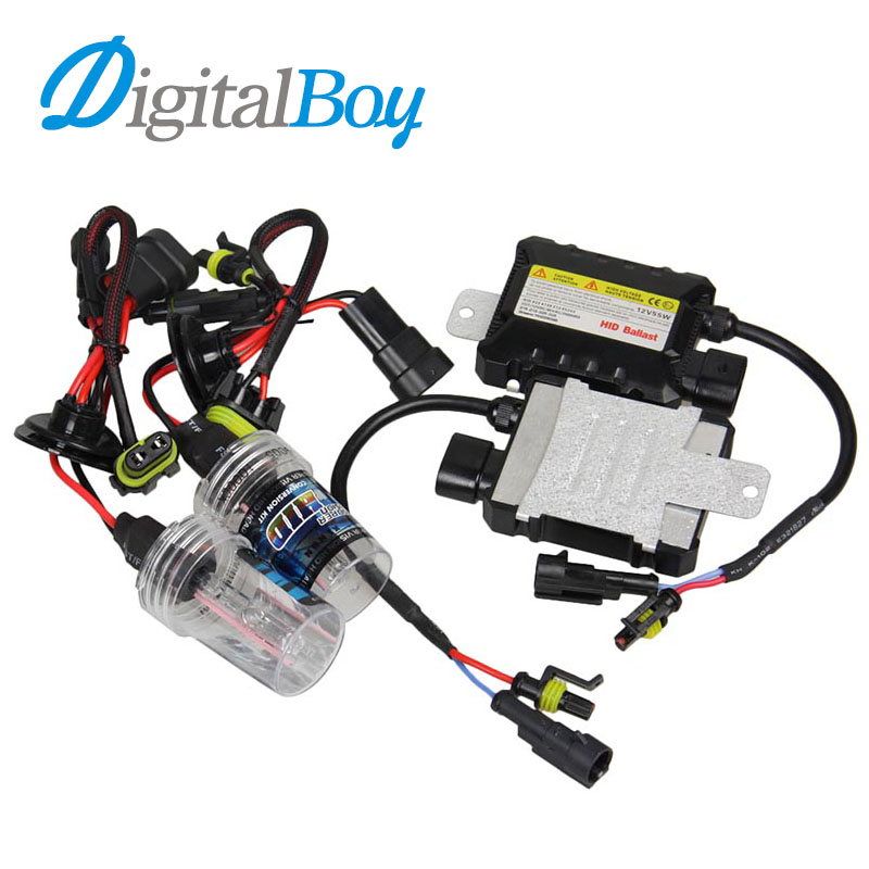 DIGITALBOY 12V 55W Slim Ballast Block Xenon Bulbs HID 9005 Bulb Kit HB3 Auto Car Headlight Lamp Car Light Source Fog Light 6000k uv suncreensuit men diving wetsuit scuba snorkeling diving suit men rashguard swimming long sleeve swimwear surf suit hmu0026 5