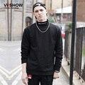 VIISHOW Hip Hop Hoodie Men Casual Turtleneck Sweatshirt Men Tracksuit  Black Hoodie Social Men Clothes Homme  W134953