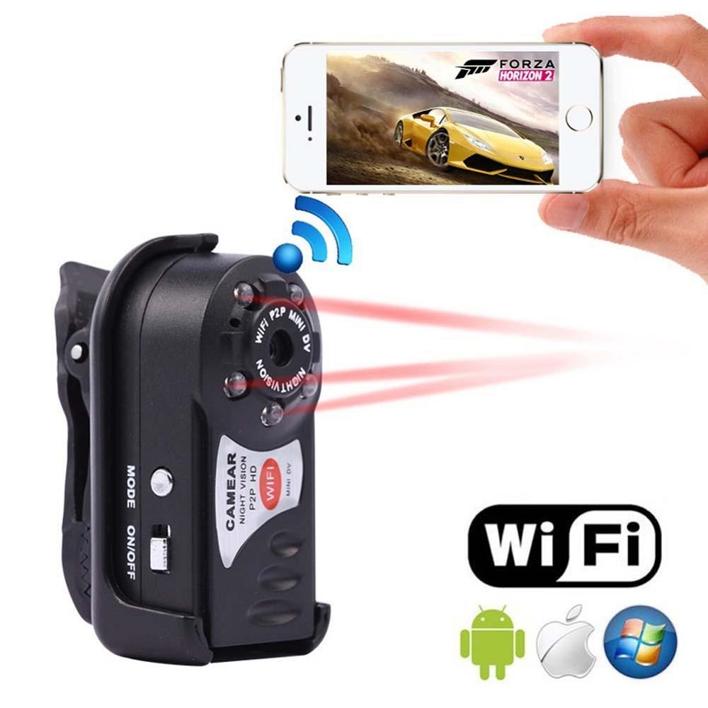 Original Q7 Wifi Wireless Ip Mini Camera Night Vision For Iphone Spy Kamera Dv Android Micro Cam Action Surveillance Espia Security Secret In Camcorders From