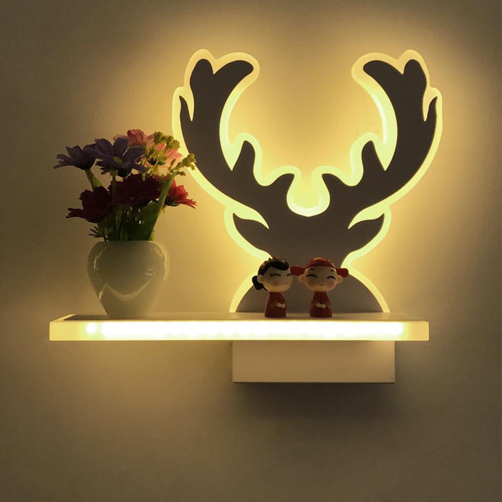 Современные 15 Вт светодиодный освещения стены ваза Свежий Романтический Спальня балкон проход ночники бра