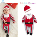 Men and treasure long-sleeved striped leotard dress Christmas jumpsuit children winter cautin 2-4 years old children clothes 30#