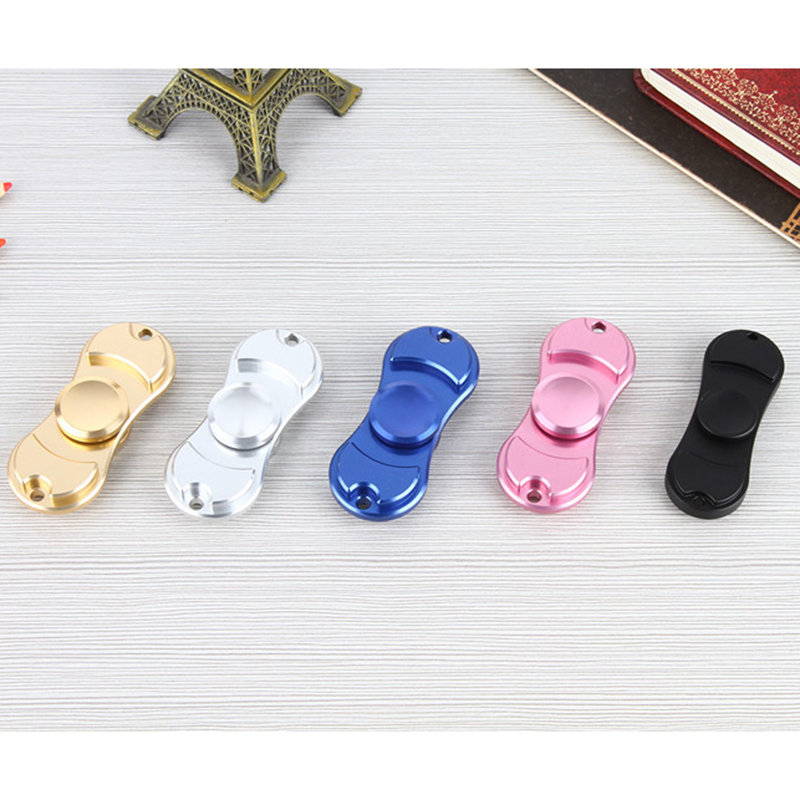 Multi-color Finger Gyro Hand Spinner Aluminum Alloy Material For Autism And ADHD Rotation Time Long Anti Stress Toys Spiner