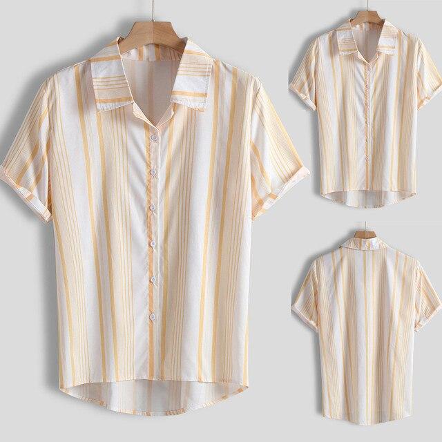Hommes chemise chemises décontractées hommes chemise à manches courtes Multi couleur poitrine pleine camisa masculina Y709