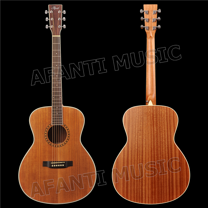 41 pouce Acoustique/Solide Paulownia top/Sapele dos et côtés/AFANTI Acoustique guitare (AFA-905)