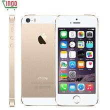 Factory Unlocked iPhone 5S 16 ГБ/32 ГБ/64 ГБ Встроенная память 8.0MP Камера 1136×640 пикселей WI-FI GPS Bluetooth отпечатков пальцев сотовый телефон