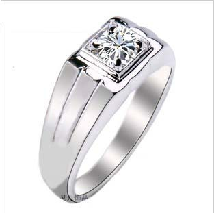 free shipping boys artificial ring silver ring