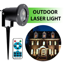 CHIZAO Christmas Stars laser light shower Patterns projector effect Remote moving waterproof Outdoor Garden Xmas decorative lawn все цены