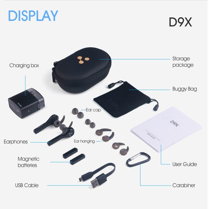 2019 version améliorée syllabe D9X TWS batterie détachable Bluetooth V5.0 écouteurs Portable plus léger étui de Charge de syllabe D9X - 6