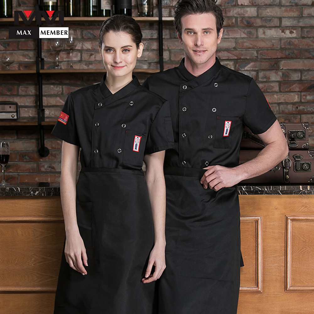 3colors M-3XL Hot New Short Sleeves Chef Jacket Bakery Cafe Catering Kitchen Cook Clothes Uniforms Waiter Work Men's Jackets