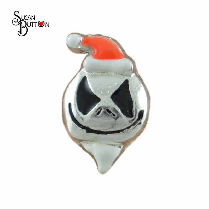2015 New Holiday Halloween Ghost Charms Hottest Floating Charms For Glass Locket 20pcs/lot Sjfc2024 Great Varieties Charms Jewelry & Accessories