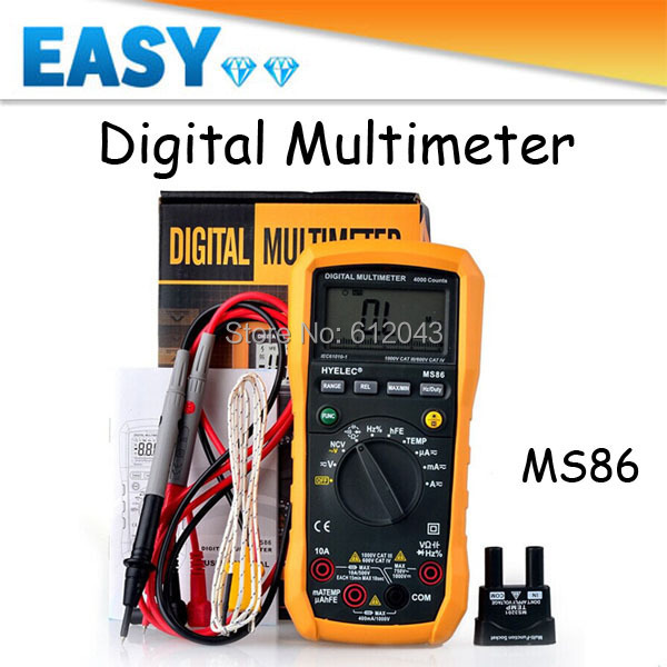 High Quality Ms86 Lcd Digital Multimeter Fit Backlight Ac Dc Voltage