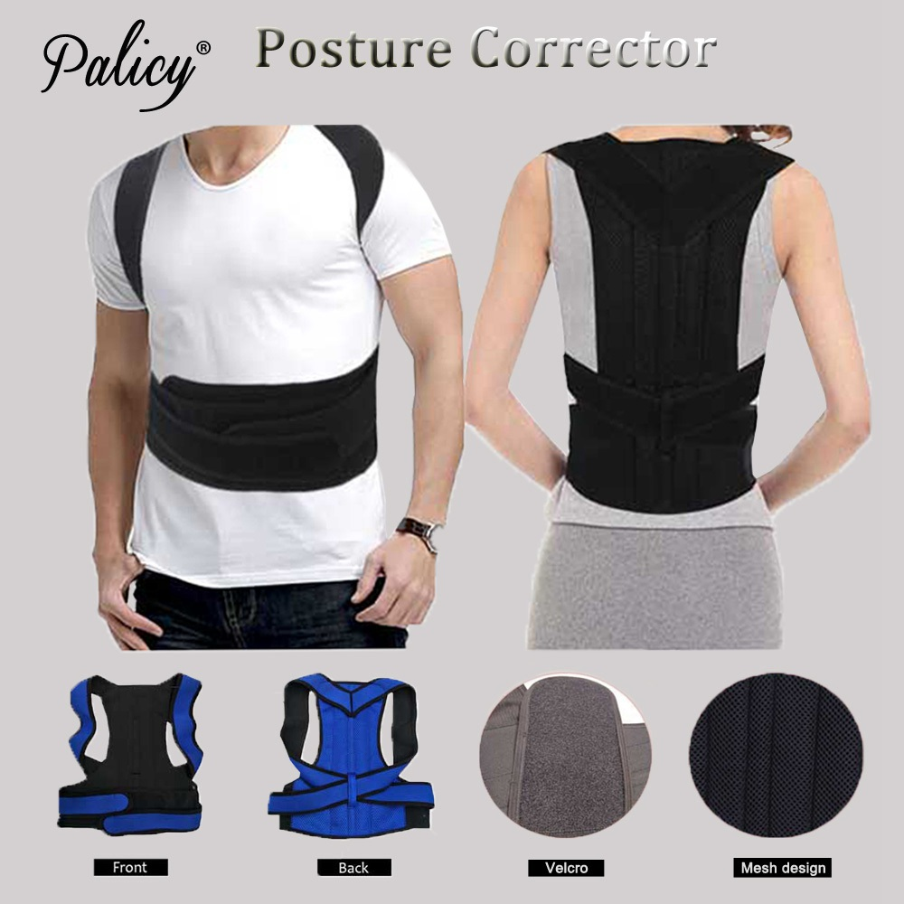 Palicy High Quality Medical Clavicle Brace Posture Back Corrector Back Support Belt Polyester Magnetic Therapy Body Shaper Adult