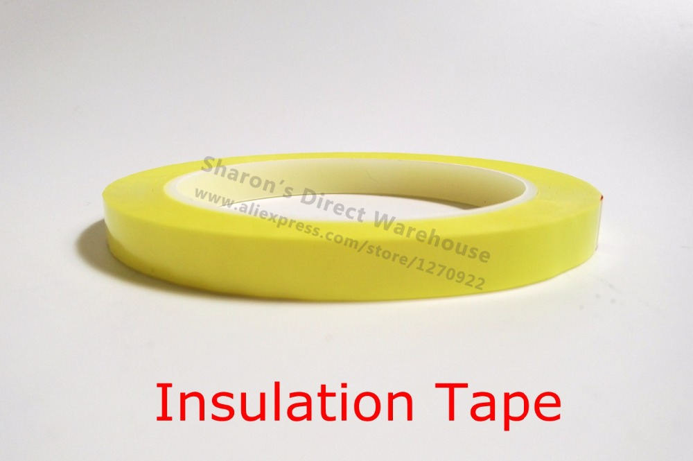2 rolls 24mm Mylar tape For Transformer Tape Polyester Insulating Tape Yellow, Red, Blue, Black, White, Clear, FREE SHIPPING mgs01 sword for transformer colour red