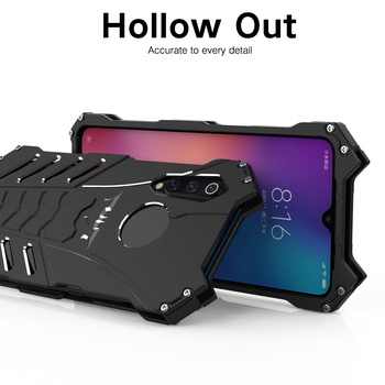R-JUST For Xiaomi MI9 Back Cover Case Armor Heavy Dust Metal Aluminum CNC BATMAN Shell Case For Xiaomi MI 9 Protection Case image