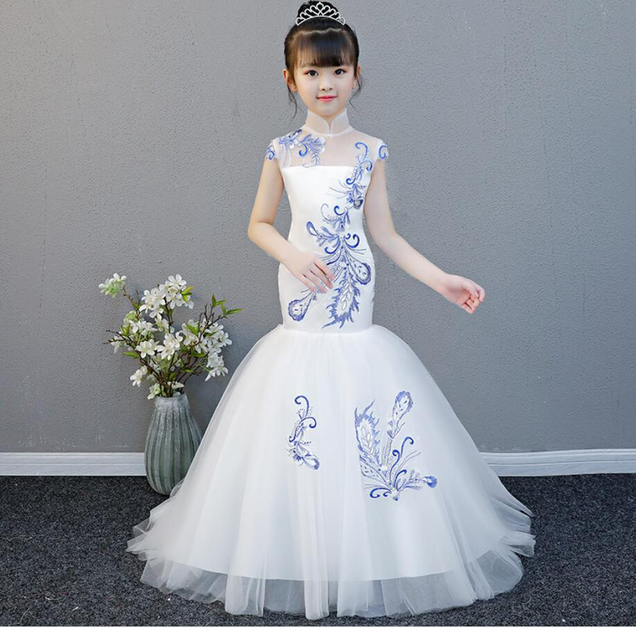 Girls Dress Tulle Dresses For Girl Party Kids Back Lace Turtleneck  Evening Dresses 2019 Princess Party Brithday Dress HW2327Girls Dress Tulle Dresses For Girl Party Kids Back Lace Turtleneck  Evening Dresses 2019 Princess Party Brithday Dress HW2327