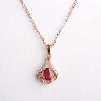 Robira 18 K Rose Gouden Ketting Vintage Red Ruby sieraden Diamanten sieraden mode Bruiloft Luxe Hangers voor Vrouwen