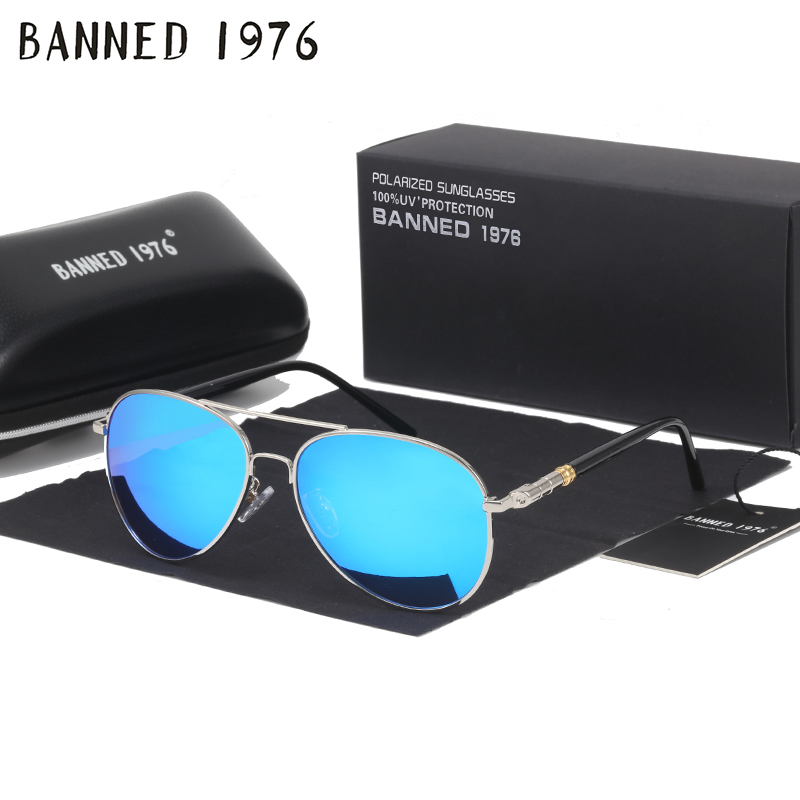 INTERDIT 1976 Marque HD lunettes de Soleil Polarisées Hommes Femmes cool Mode Yeux Lunettes de Soleil Avec Accessoires de la conduite lunettes oculos de sol