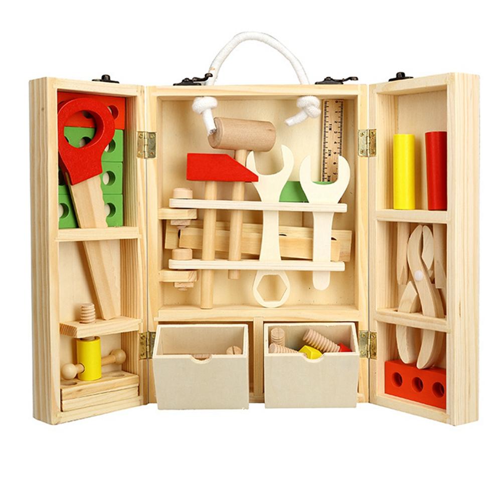leadingstar nios caja de conjunto de juguetes de madera de construccin de madera juguetes para nios juegos de im