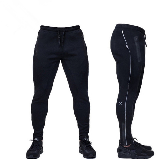 6cad53ff0ad6fc Male Fitness Pants Sweat Pants Men Aesthetics Pan Wear For Runners Gray  Clothing Thin Sweat Trousers