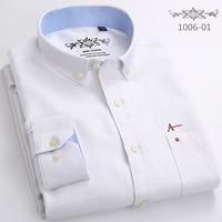 DUDALINA New Arrived Fashion Mens Shirts High Quality Long Sleeve Striped Masculina Solid Color Men Dress Shirt White Male Shirt