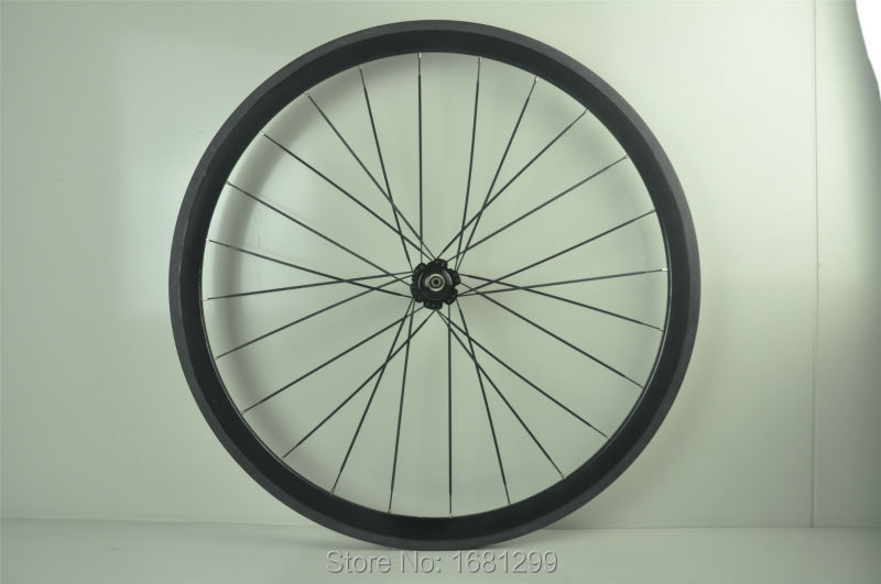 1 pz New 700C 38mm graffatrice rim Road Track Fixed Gear bike 3 K UD 12 K full carbon wheelset della bicicletta 20.5/23/25mm di larghezza Libera la nave