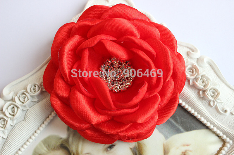2017 Hair Flowers Girls Kids Women Hair Accessories Burned Singed Hair Flower Satin Fabric Flowers 30pcs Apparel Accessories