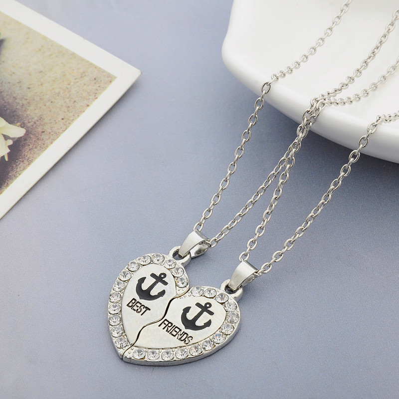HTB16LNwb2c3T1VjSZPfq6AWHXXaT - 2 PCS/Set Animal Best Friends Friendship Couple Two Parts Pendant Necklace Best Gifts For Men Women BFF Jewelry