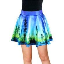 Vintage Ball Gown Van Gogh Starry Night Printed MiniSkirts Women Pleated Mini Skirt Summer Skirts Casual beach Clothing