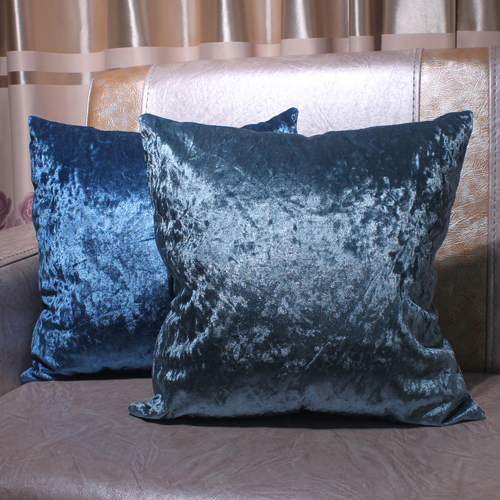 """Crushed Velvet Cushion Luxury Reversible Chic Scatter 22/""""x22/'/' Filled or Cover"""