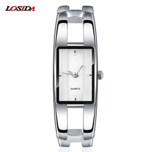 hot deal buy losida brand women's bracelet watches diamond stainless steel dress ladies quartz watch femme relogio feminino horloges vrouwen