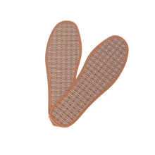 1Pair Hand-Woven Bamboo Charcoal Linen Shoes Insoles Summer Unisex Inserts Foot Pads Men Women Breathable Insoles Breathable(China)