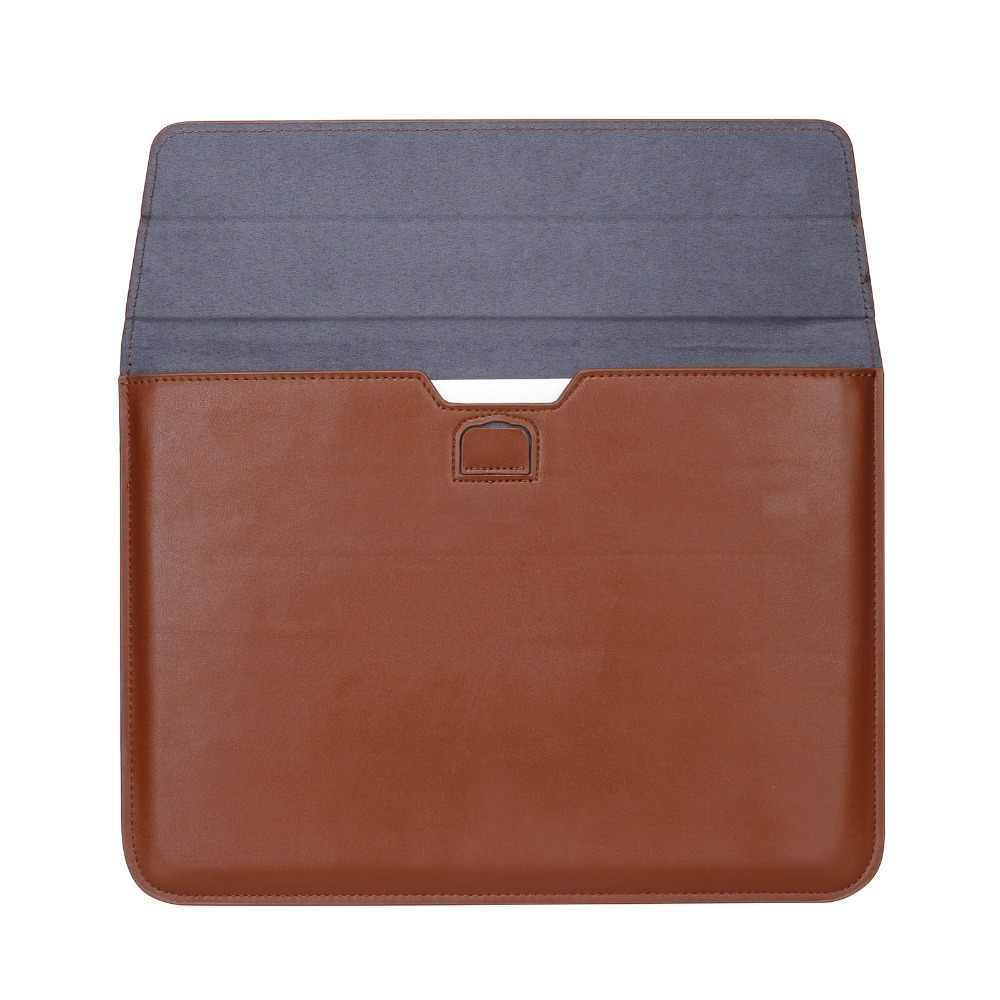 Deri zarf kol çantası Case için Macbook yeni 2020 hava 13 Pro Retina 11 12 13 15 16 inç-dizüstü dizüstü bilgisayar kapağı