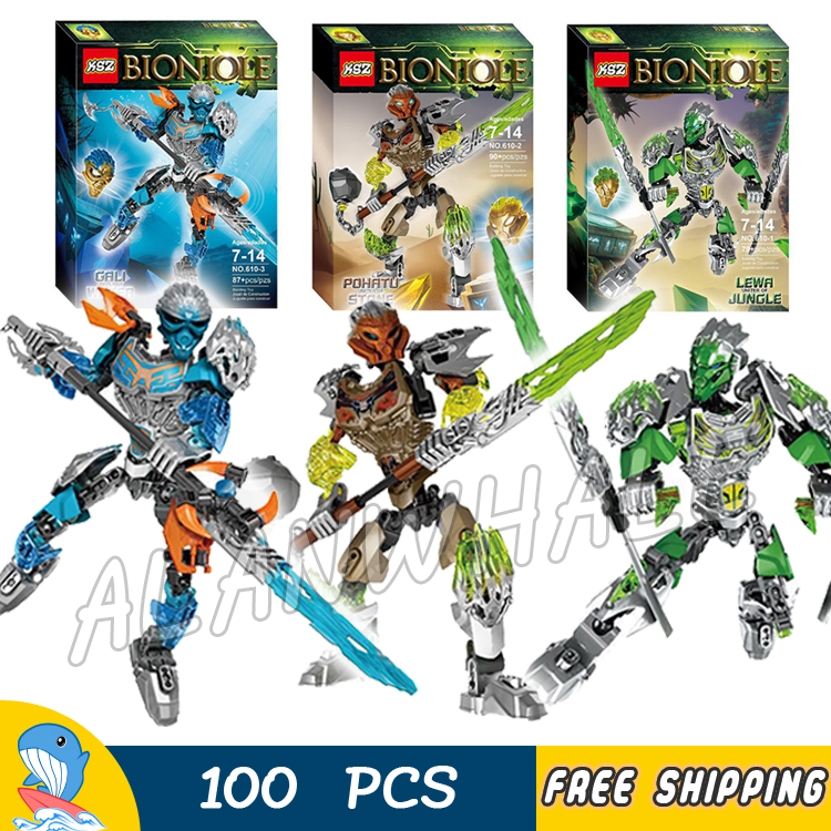 2017 Bionicle Hero Lewa Pohatu Gali Uniter of Jungle Stone Water Model Building Blocks Gifts Bricks Toys Compatible With lego конструктор lego bionicle 71301 кетар тотемное животное камня