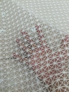 Image 3 - Высококачественная кружевная ткань для свадебного платья, расшитая LJY 53103, с бусинами