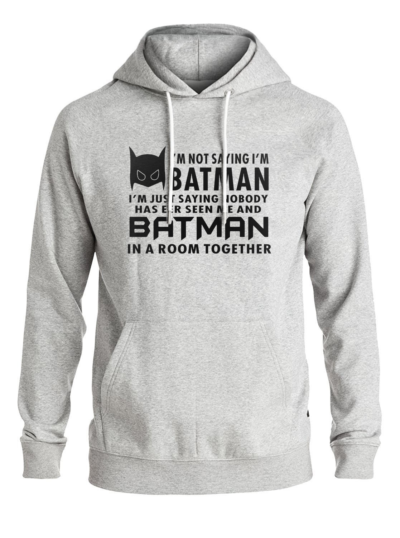 Hot Sale Hip Hop streetwer Im Batman men sweatshirt Batman men hoodies 2018 spring winter new fleece hooded men tracksuit S-2XL